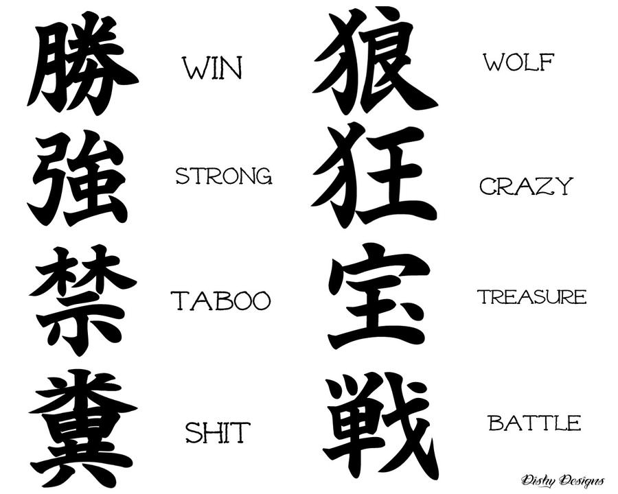 of asian characters Meanings