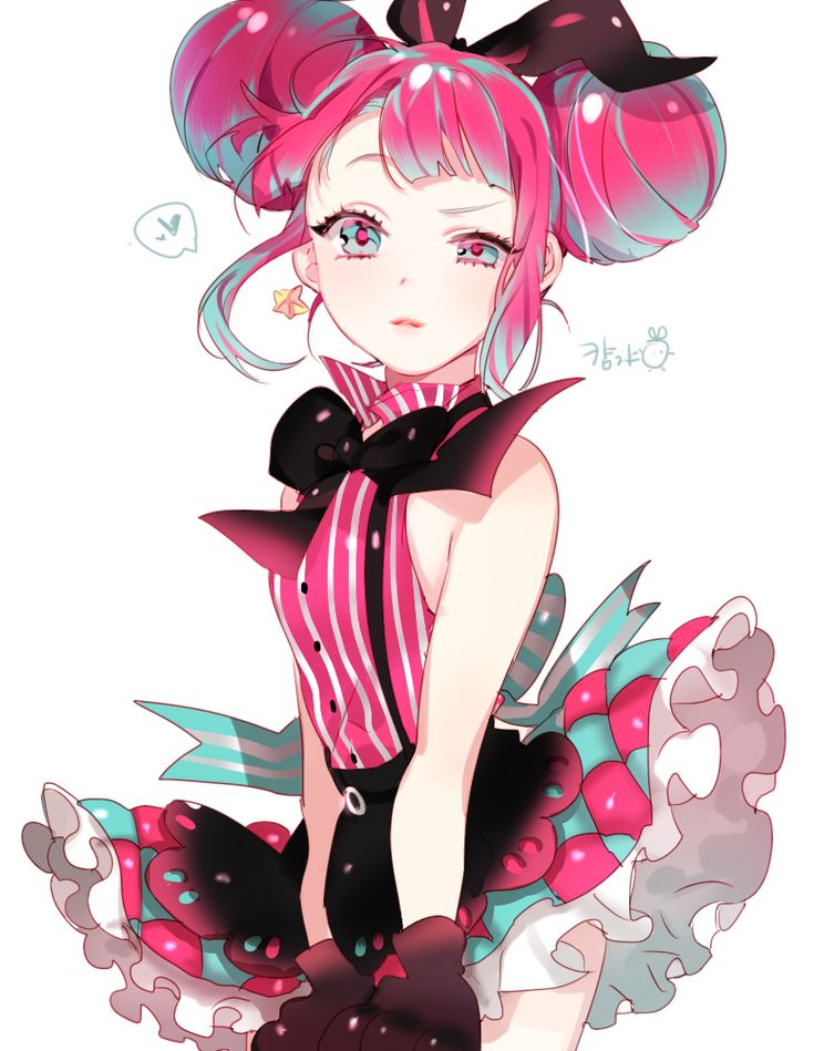 Cute anime teen girls