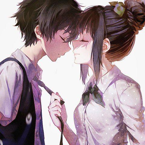 girl and Anime cute boy