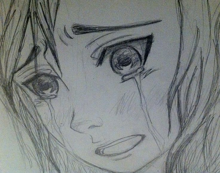 face crying Anime girl