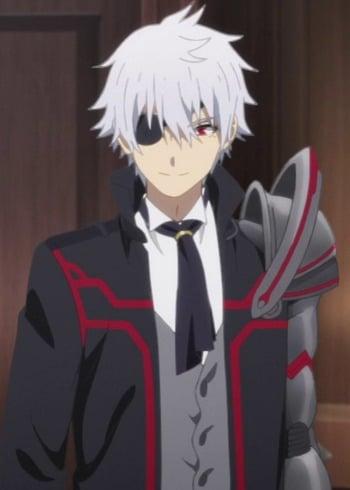 white hair anime Short