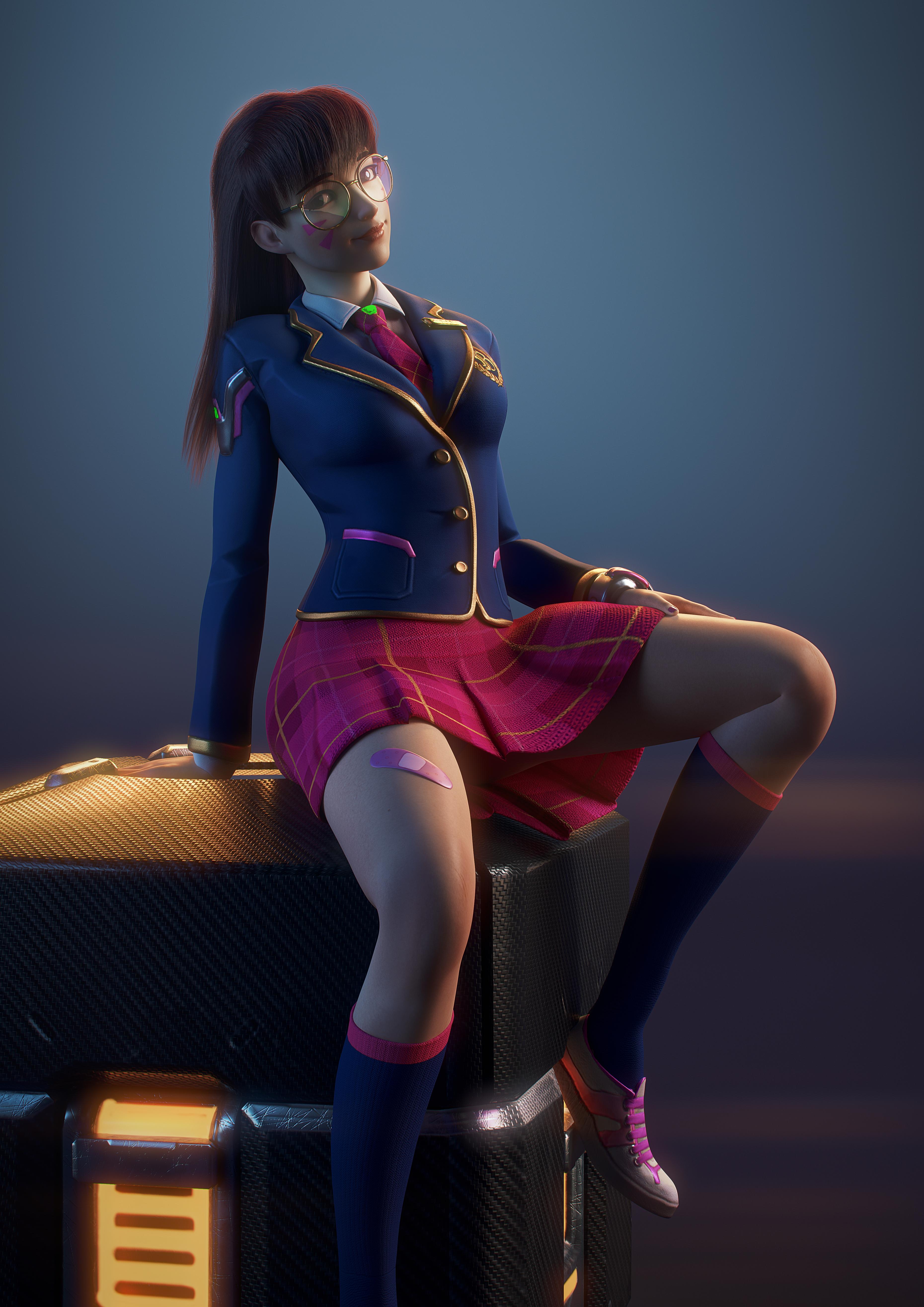 spread Anime girl legs