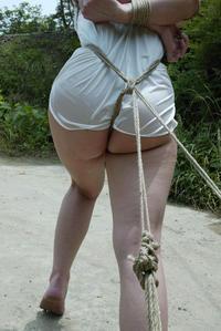 outdoor asian watching Bondage