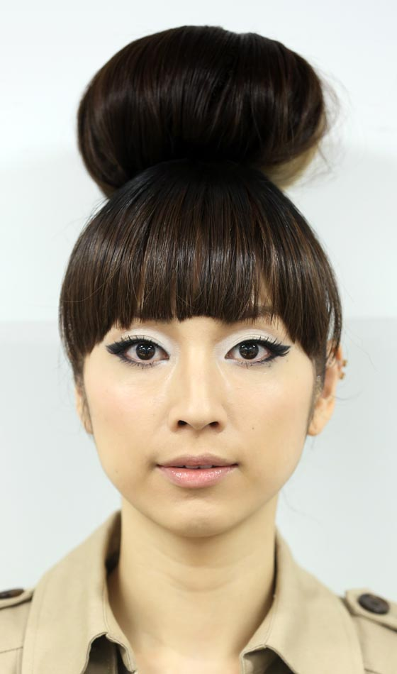 Asian chinese hair style