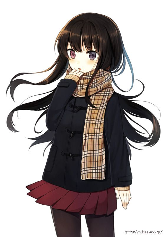 with girl hair anime Small black