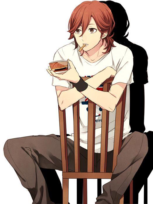 chair sitting on Anime guy