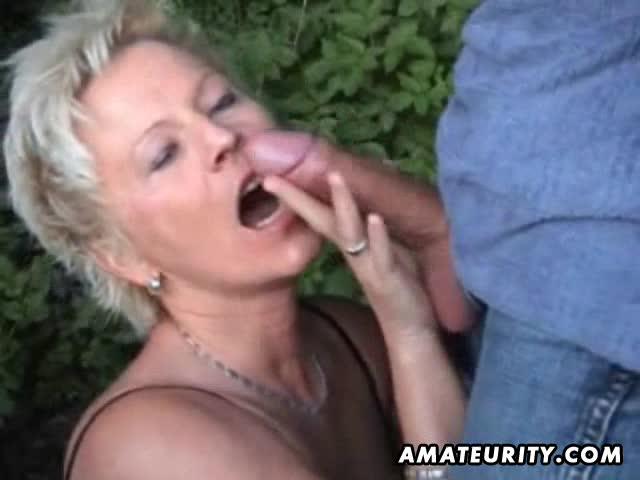 asian Cumming wife outdoor