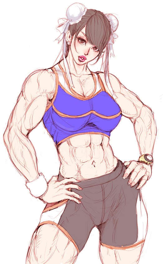 with abs girl Anime