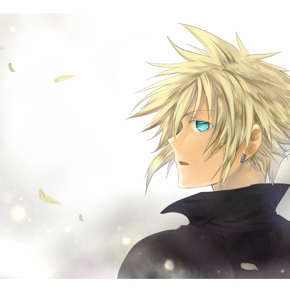Blonde hair blue eyes anime guy