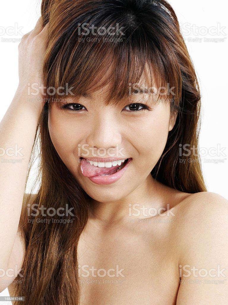 Asian watching outdoor cum compilation