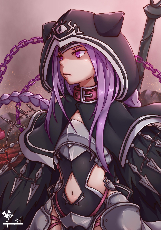 girls anime Purple hair