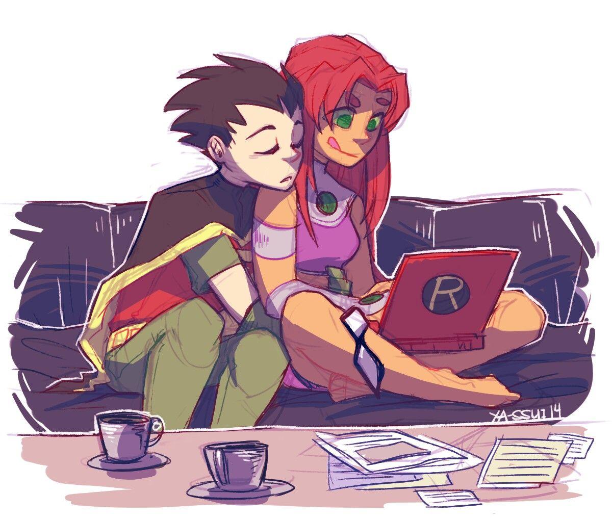 hentai Robin and starfire