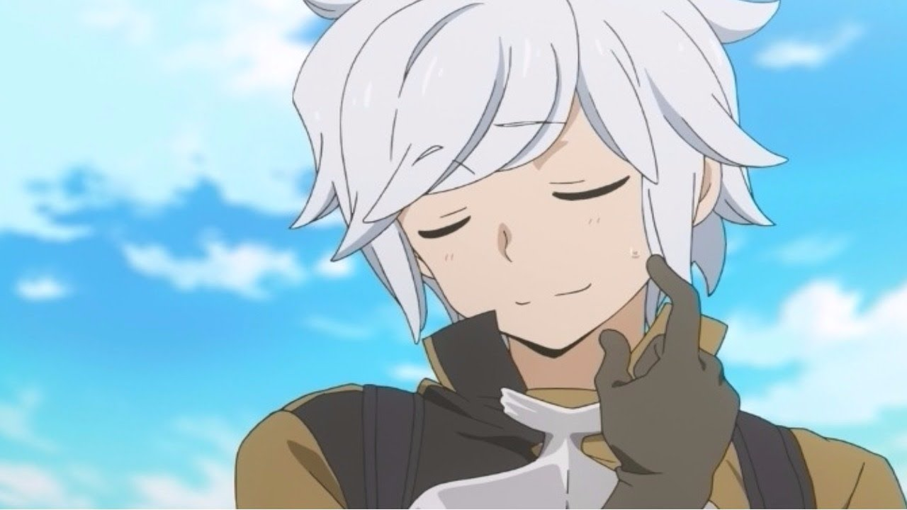 male anime White haired