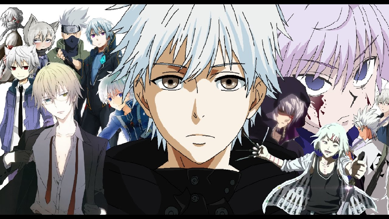 with silver hair Anime guys