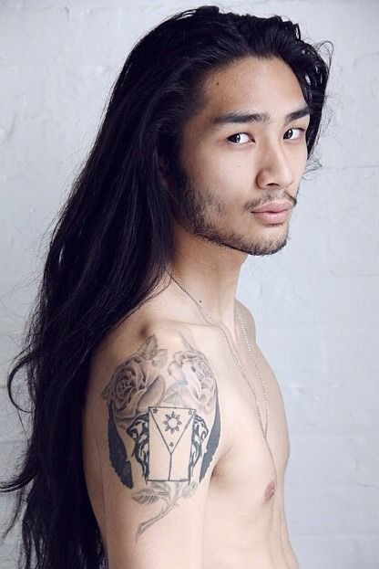 daddy long hair Sensual asian