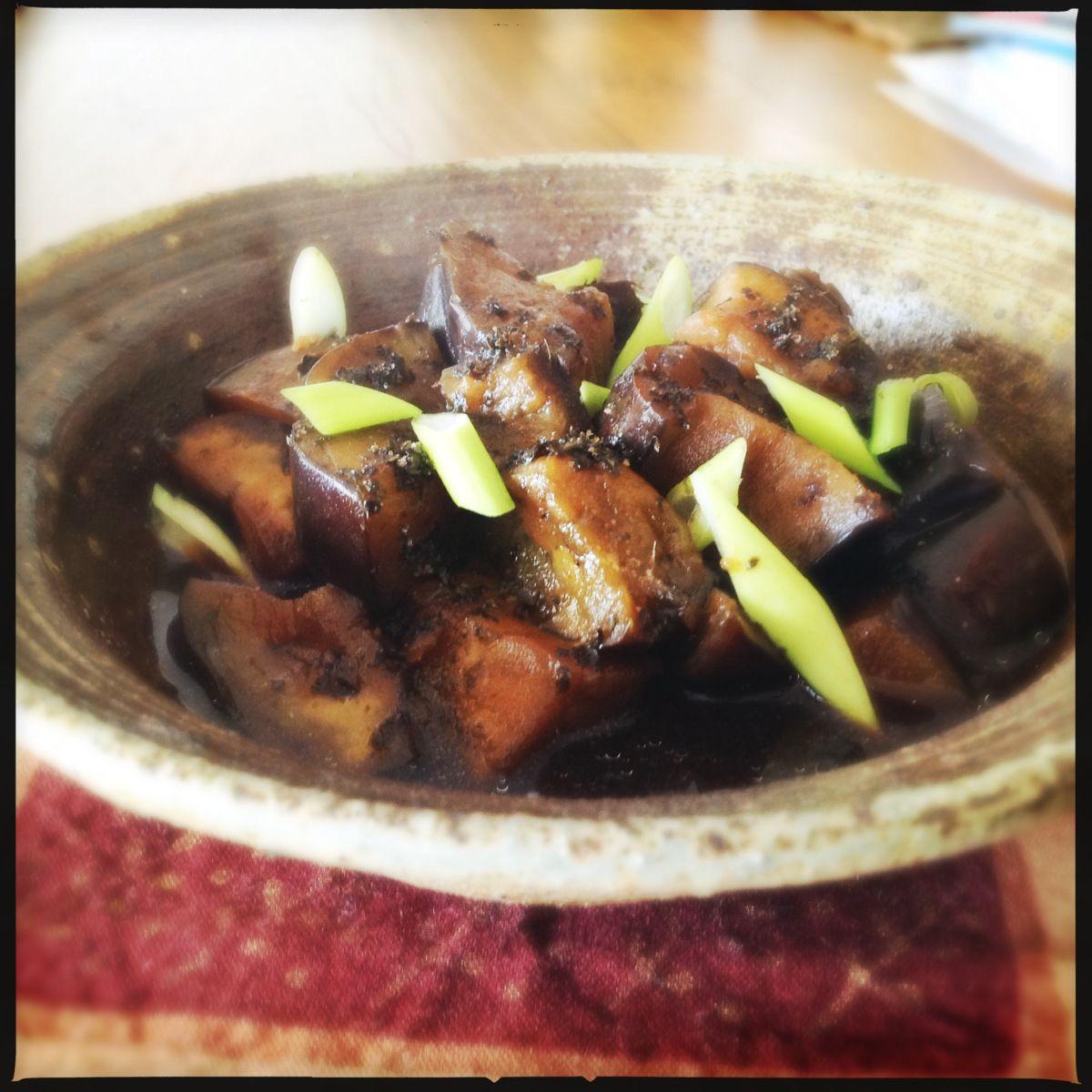 asian recipe Sauteed eggplant