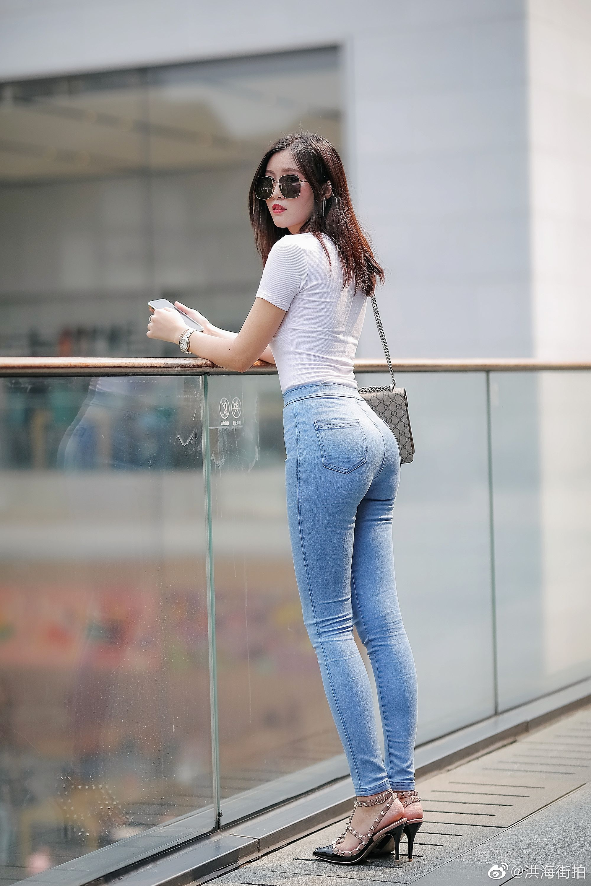 Watching cheating outdoor asian