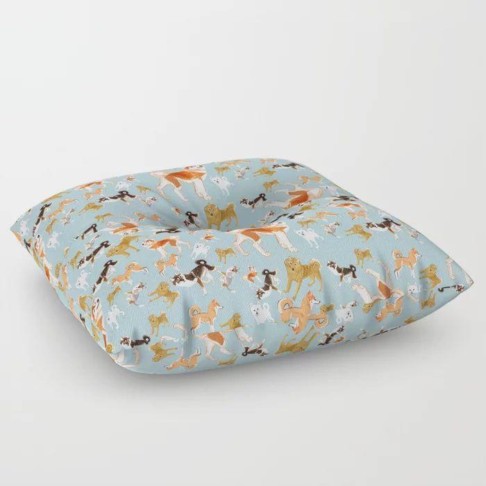 dining floor pillows Asian