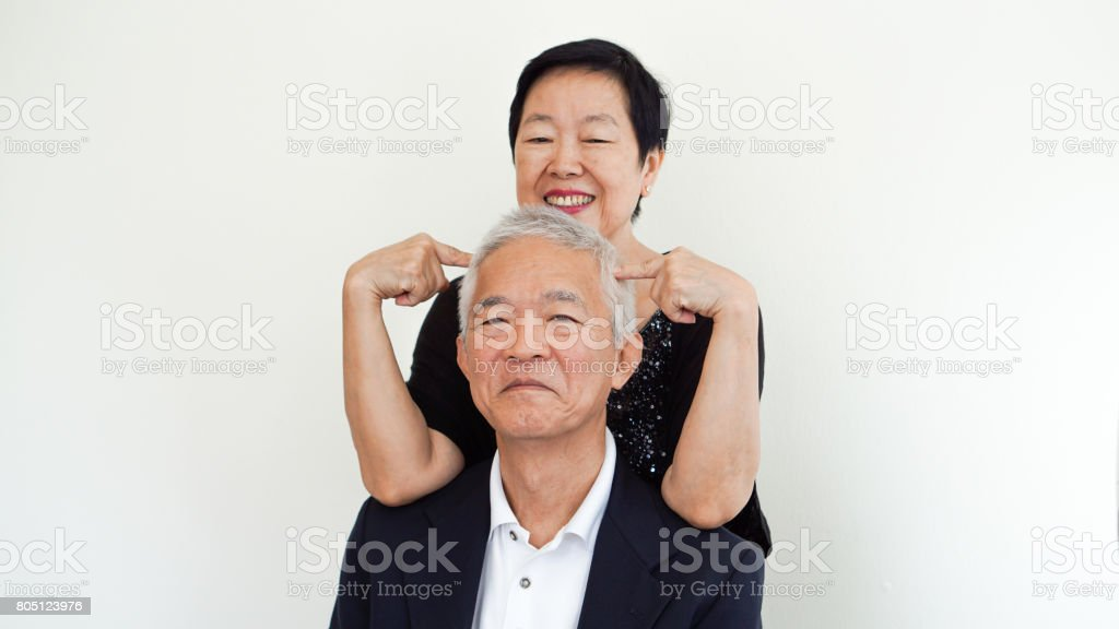POV watching Asian couple
