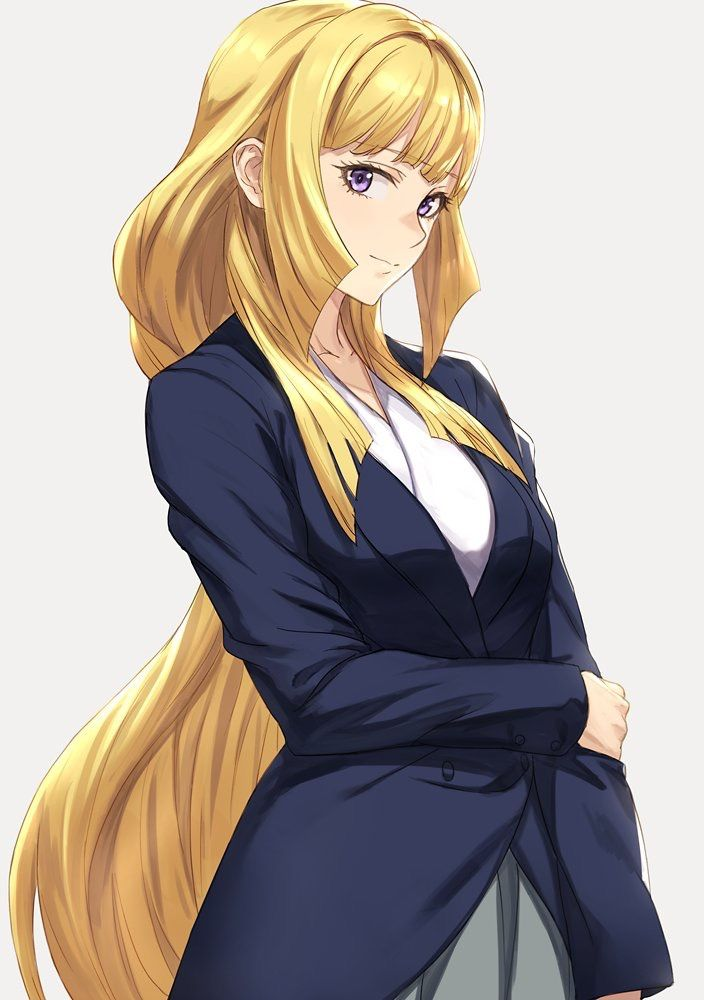 Anime girl in a suit