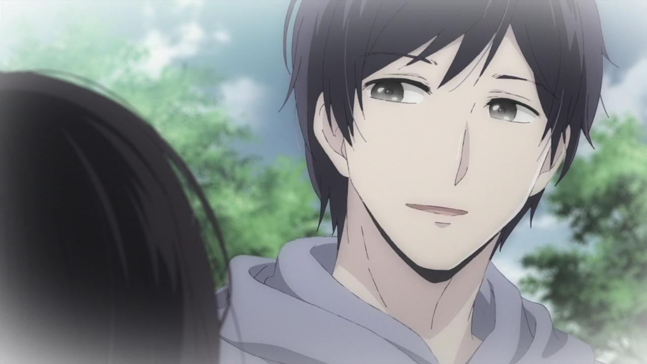 Black hair anime man