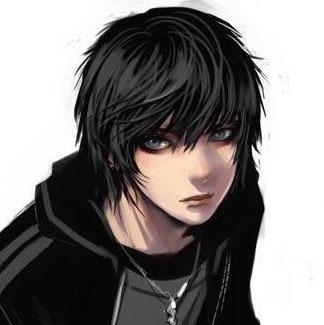 boy Cute anime emo
