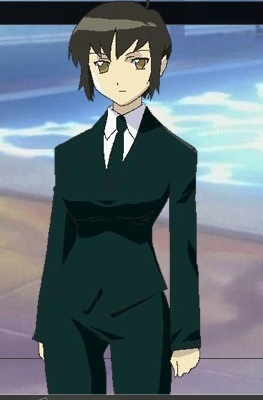 in Anime a suit girl
