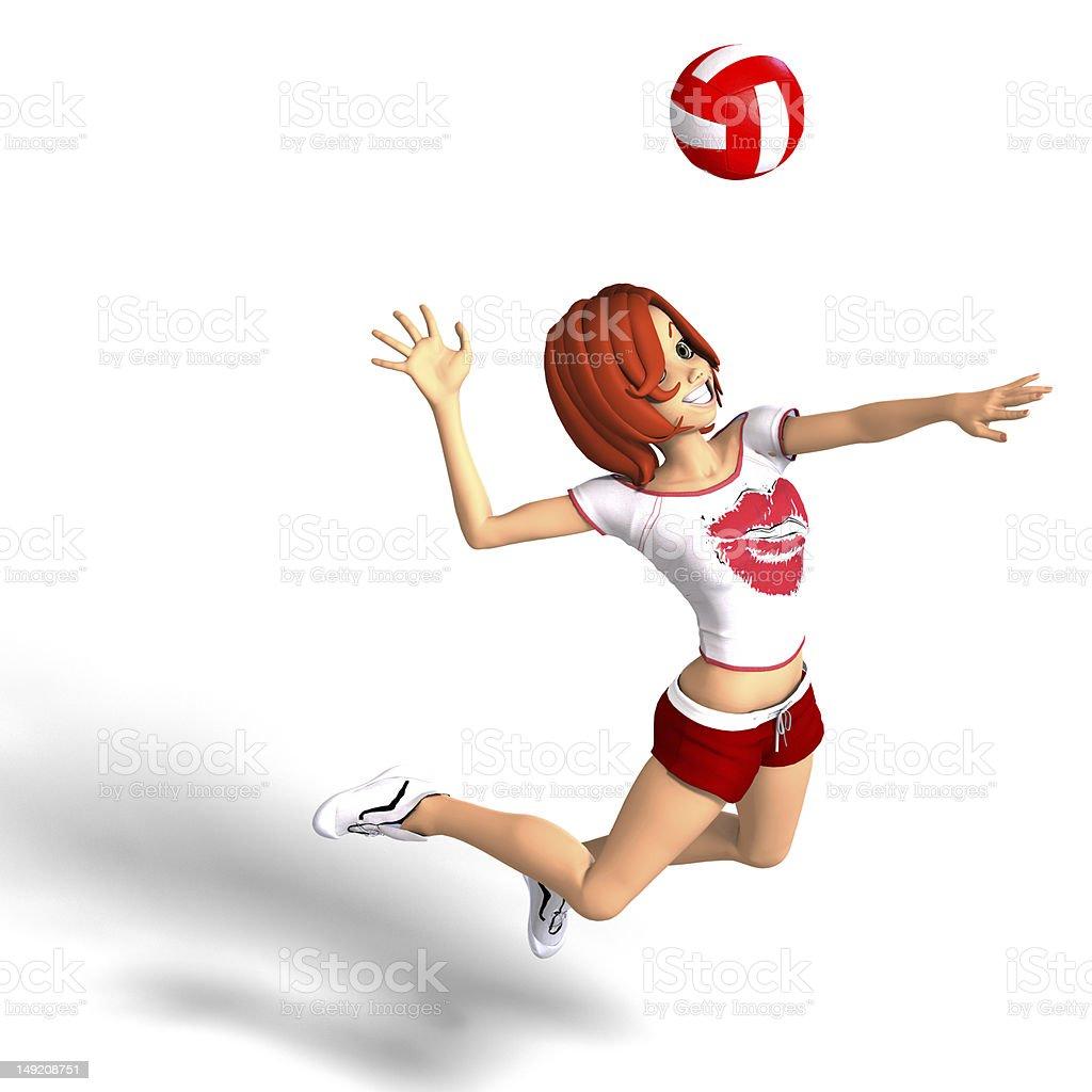 playing Anime volleyball girl