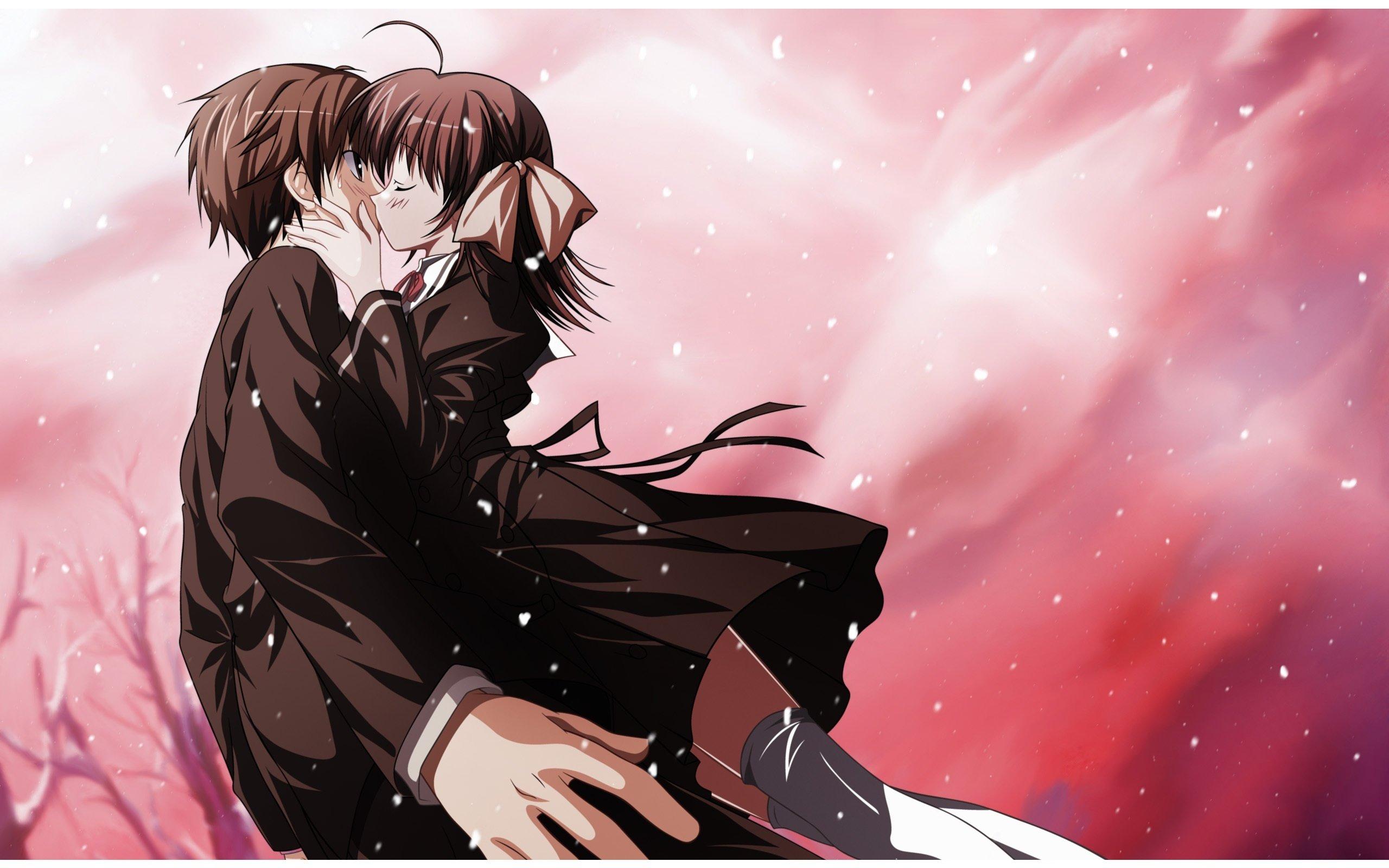 kiss Anime love scenes