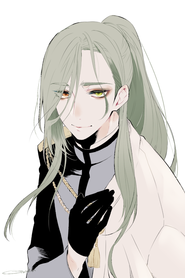 hair Anime green male with