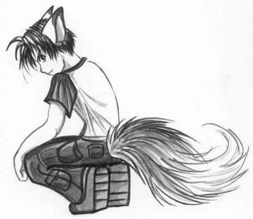 ears Anime and tail wolf