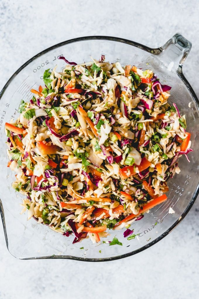 recipe and and peanut slaw and Asian