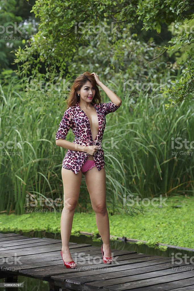 outdoor blonde wanking Asian