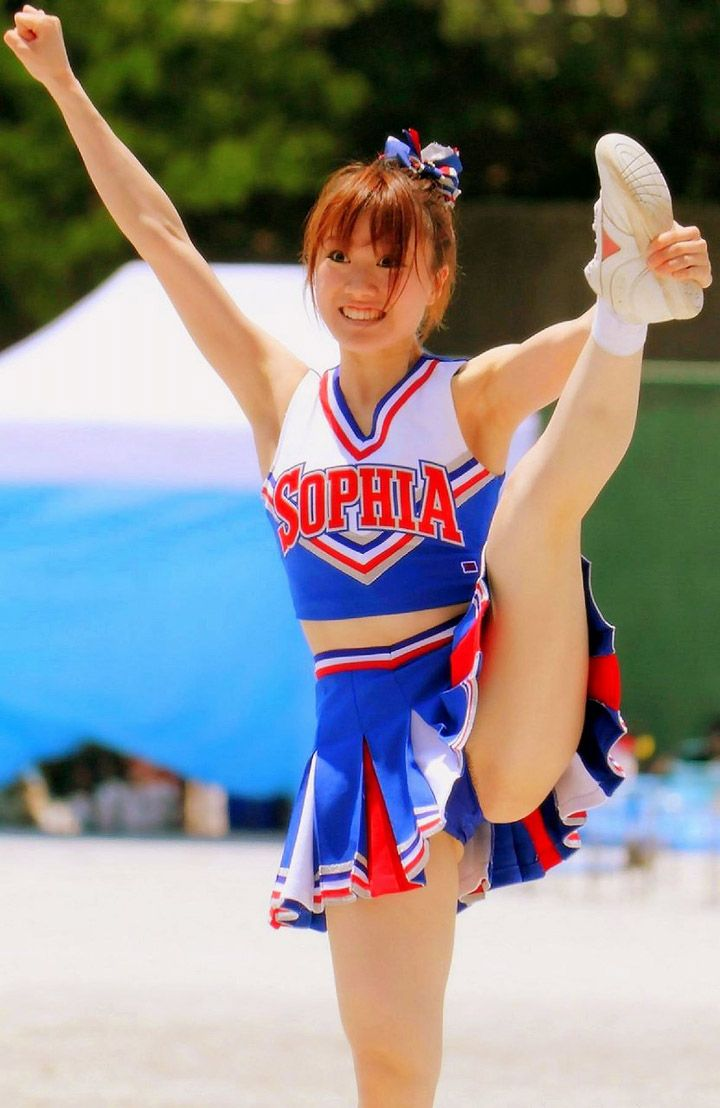 otngagged cheerleaders Asian young