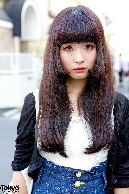 hair asian Sexy cute long