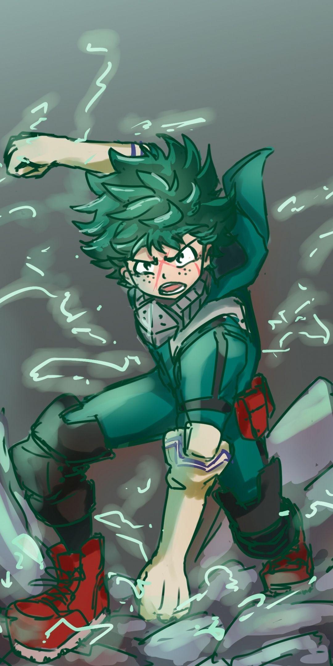 Anime guy with green hair