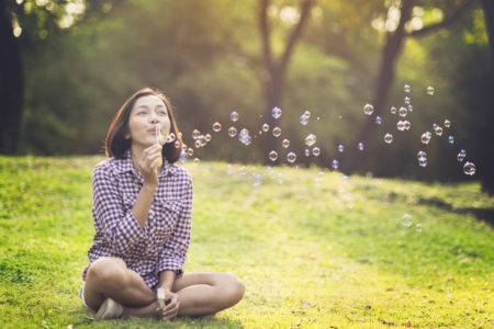 POV Bubble asian young