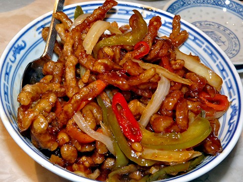 beef Chinese strips ried deep