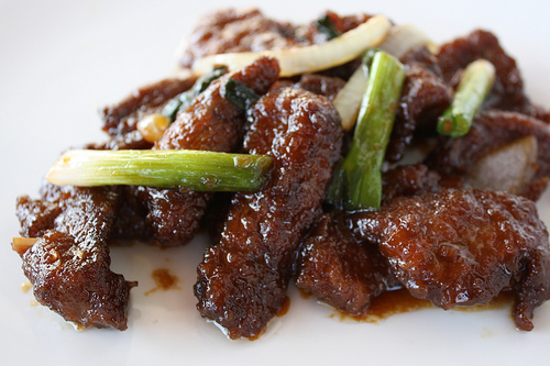 Chinese deep ried beef strips