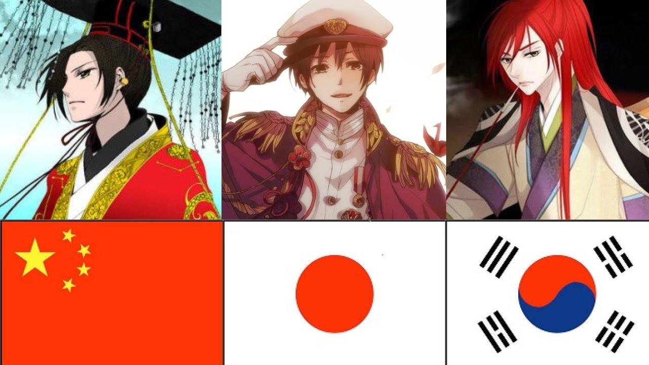 Chinese japanese and korean