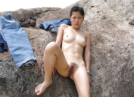 wife asian Couple outdoor
