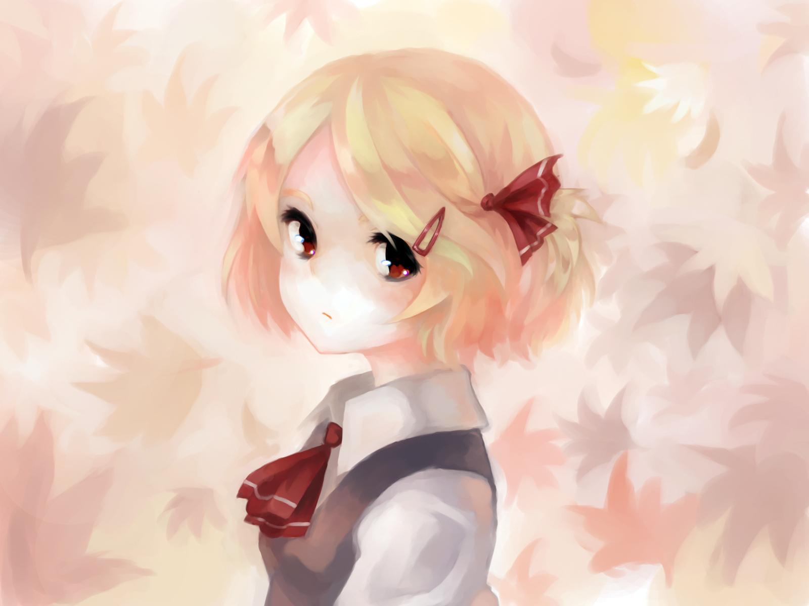 hair Anime blond girl short
