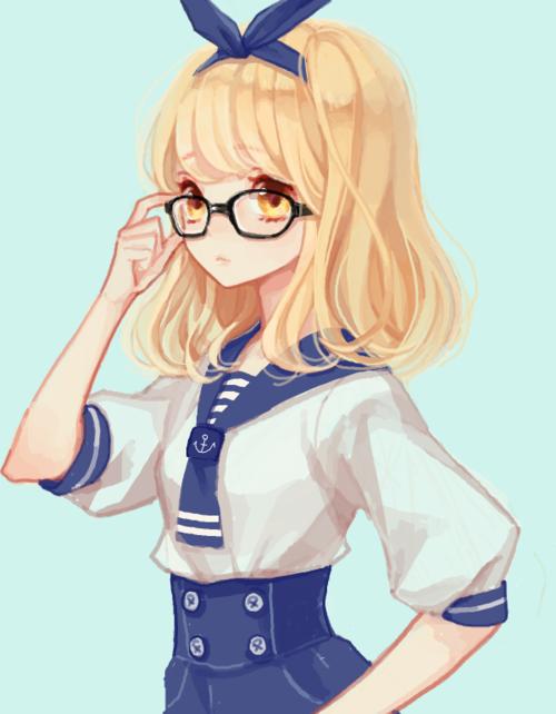 girl anime Cute blonde