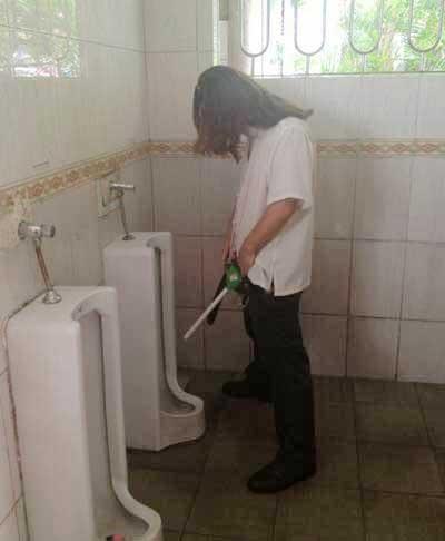 public bathroom chinese Peeping