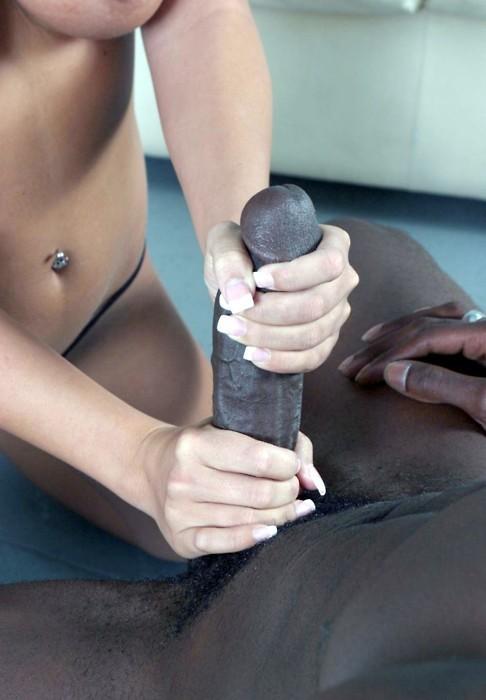 slut masturbate handjob Interracial chinese