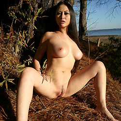busty Wife outdoor asian